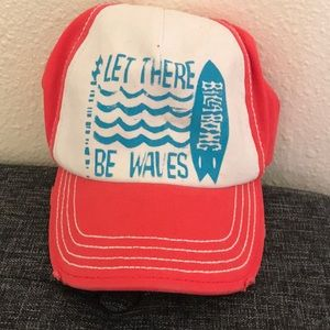 Let there be waves billabong trucker hat
